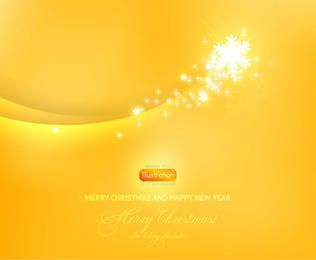 Yellow Blended Curves Background with Sparkles