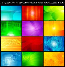 Hermoso conjunto de fondo creativo multicolor brillante
