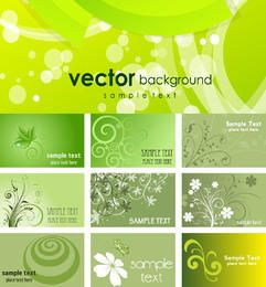 Green Eco Themed Business Card Pack