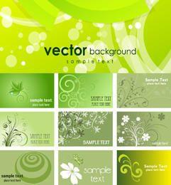 Paquete de tarjeta de visita temática ecológica verde