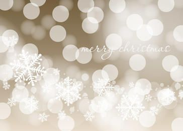 Fundo brilhante de Natal com Bokeh e flocos de neve