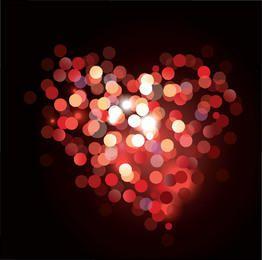 Fondo colorido brillante de la tarjeta del día de San Valentín del corazón de Bokeh