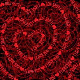 Textual Heart Textured Valentine Background