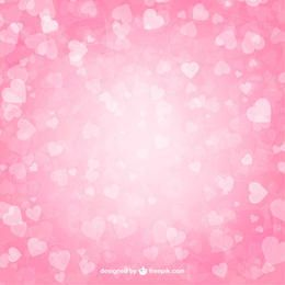 Fluorescent Valentine Hearts Pink Background