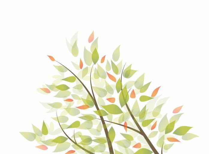 Las ramas de los árboles las hojas de antecedentes - Descargar vector