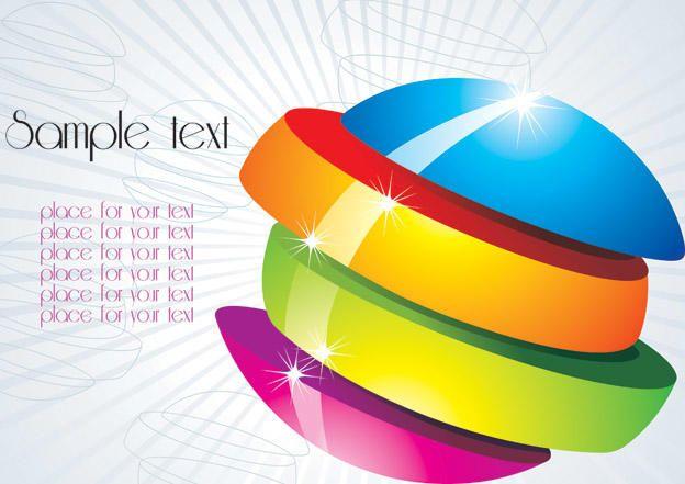 Multicolor Sliced Orb Background