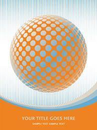 Fondo abstracto de líneas de globo de semitono