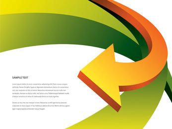 Kurvenpfeil bewegt abstrakten Hintergrund wellenartig