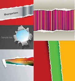 Creative Tear Paper Background Set