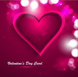 Tarjeta creativa de la tarjeta del día de San Valentín del corazón rosado