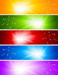 Resumen de luz solar resplandor Banners