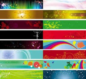 Colorful Large Banner Collection