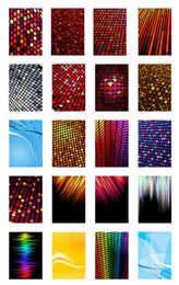 Colorful Pixel Tiles Background Set