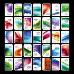 Colorful Vertical Business Card Set