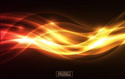 Orange Glare Vector Background