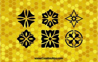 Padrões criativos e gráficos de design de logotipo