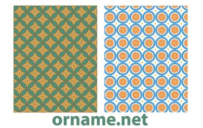 Zwei vektorägyptische Muster