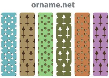 Conjunto de padrão persa vintage