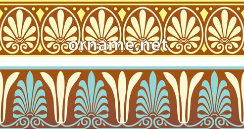Greek Ornamental Pattern Borders