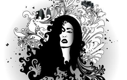 Black & White Swirl Glamour