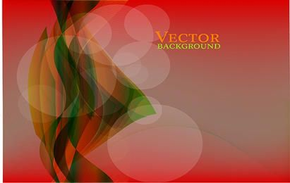 Twisted Vector on Red Gradient Background