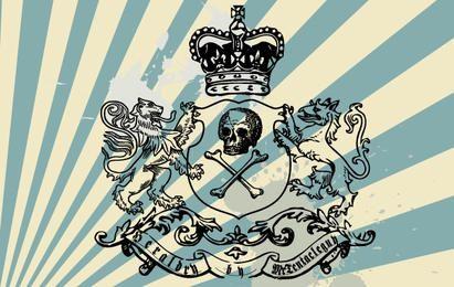 Vintage Heraldik-Bürsten