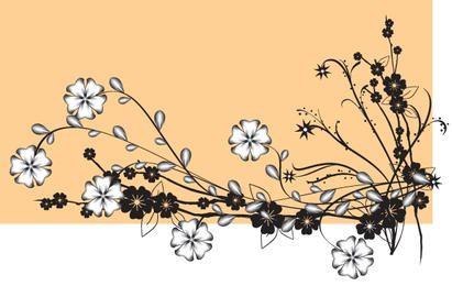 Flor de vector con brotes