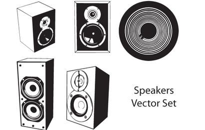 Conjunto de altavoces de vector