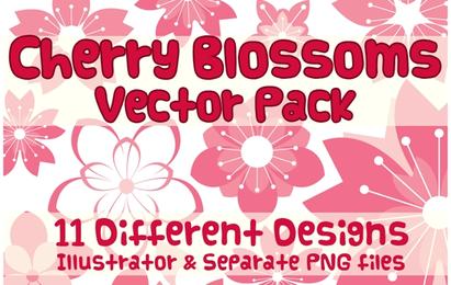 Vector Design de flor de cerejeira