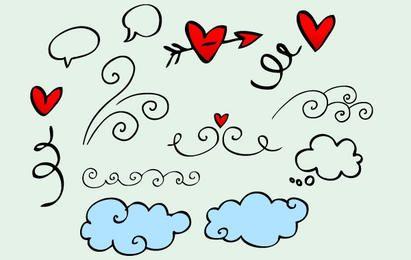 Vector Doodle ilustraciones