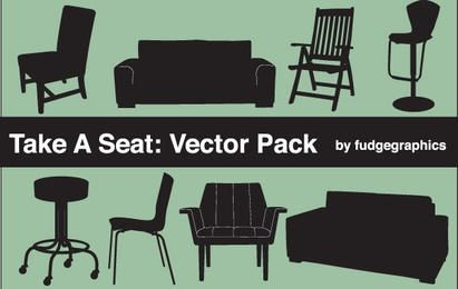 Silhouette Vector Seating Objects