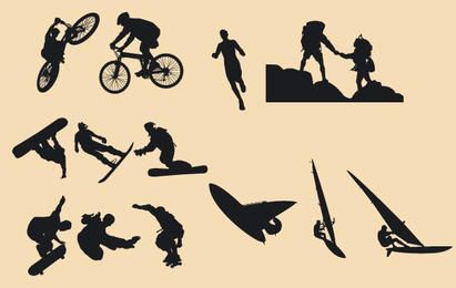 Silhouette Vector Riders