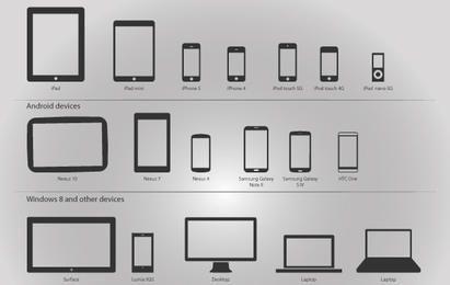 Dispositivos Tecnológicos paquete de vectores