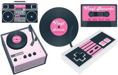 Reproductor de vinilo y cassette.