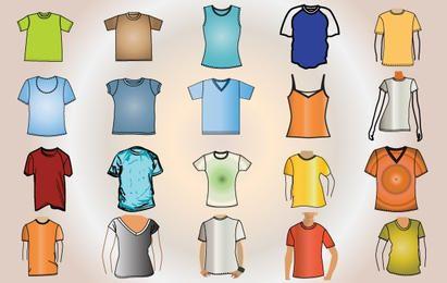 Vector plantilla colorida camiseta
