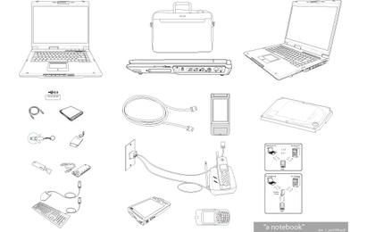Notebook & Tech Accessories Vector