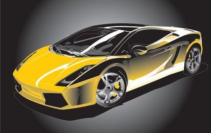 Colorful Vector Gallardo Sports Car