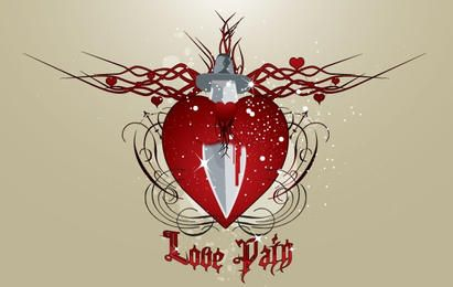 Herz in schmerzlicher Liebe