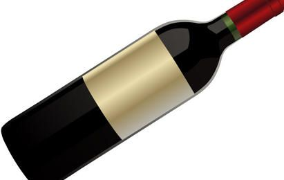 Vetor de garrafa de vinho tinto