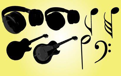 Vector de objetos musicales