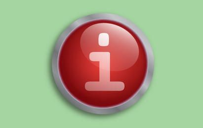 Fluorescent Red Button Vector