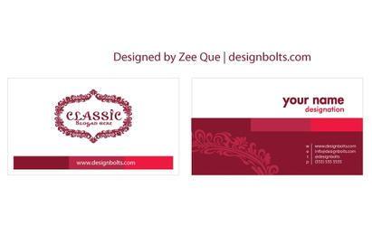 Plantilla de tarjeta de visita hermosa personalizable
