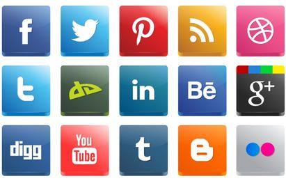 Alto Detalle 3D Social Media Icon Pack