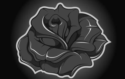 Vetor de rosa metálico