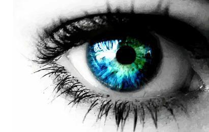 Vetor de olho azul