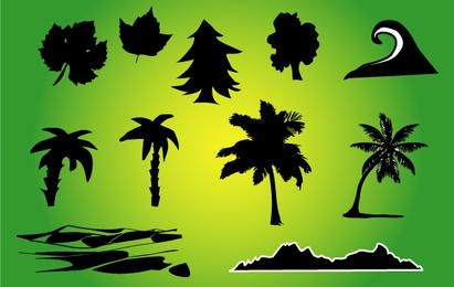 Silhouette Nature Vector