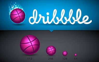 Stunning Dribble Icon Set