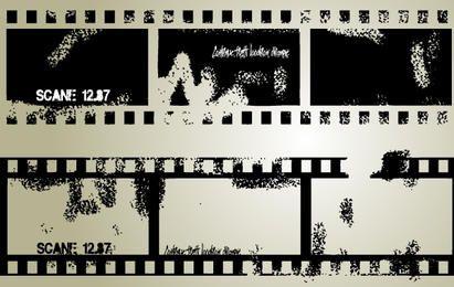 Vector Grungy Film Strip