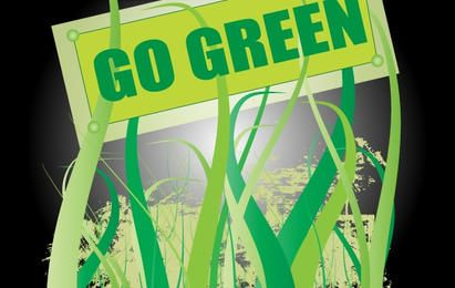 Go Green Nature Vector