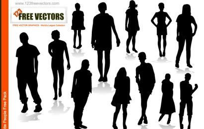 Silhouette Vector Boys and Girls
